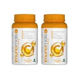 Kit com 2 imunomais - vitamina c + zinco + vitamina d3 - sua dose de imunidade - c/ 30 cps - nutrilibrium