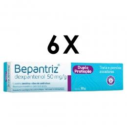Kit com 6 unidades - Bepantriz Pomada Dermatológica Para Dermatite Bisnaga com 30g