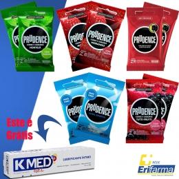 Kit Preservativo Prudence - Compre 10 pacotes e Ganhe K-med Gel 50g