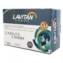 Lavitan homem cabelos e barba - vitamina b7 - c/ 60 cápsulas