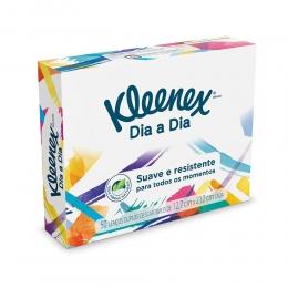 Lenço de Papel Kleenex Classic Box com 50 Unidades