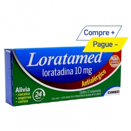 Loratamed 10mg - Antialérgico - c/ 12 Comprimidos - Cimed