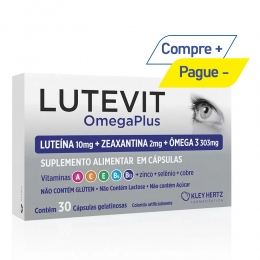 Lutevit Omega Plus 30 Cápsulas Luteína + Zeaxantina + Ômega 3 - Kley Hertz