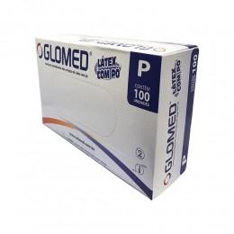 Luva latex - com talco - tam: p c/ 100 un - glomed
