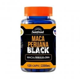 Maca Peruana Black 2200mg - Maca + Tribulus + ZMA - com 120 Cápsulas - Sunfood