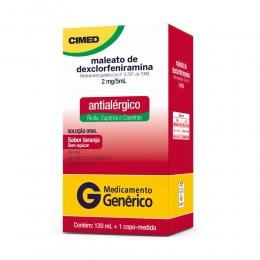 Maleato de Dexclorfeniramina Betametasona 5ml/2mg - Xarope Antialérgico com 120ml - Cimed