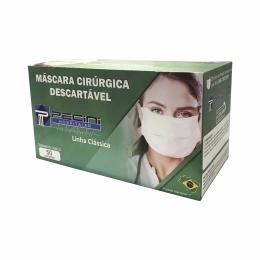 Máscara Descartável Cirúrgica Tripla com Elástico - Linha Clássica - c/50 unidades