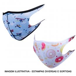 Máscara em Tecido Neoprene - Tripla Proteção com Tratamento de Íons de Prata e Fluorcarbono - Lavável e Reutilizável - Tamanho Infantil