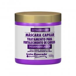 Máscara Tratamento Capilar Gota Dourada Desamarelador - 430ml