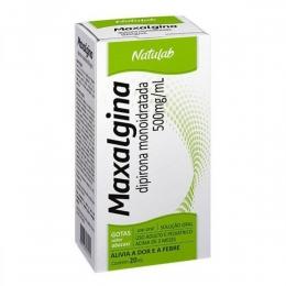 Maxalgina 500mg/ml - Dipirona em Gotas 20ml - Alívio a Dor e Febre - Natulab
