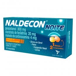 Naldecon Noite 24 Comprimidos 800mg/20mg