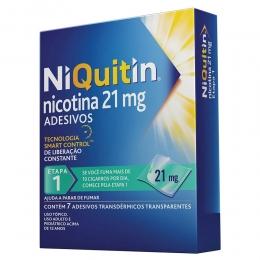 NiQuitin 21mg Adesivos para Parar de Fumar com 7 unidades - Fase 1