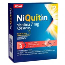 NiQuitin 7mg Adesivos para Parar de Fumar com 7 unidades - Fase 3