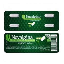 Novalgina 1g - Dor de Cabeça e Enxaqueca - com 4 comprimidos