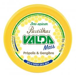 Pastilhas Valda Mais - Sabor Própolis e Gengibre - Zero Açúcar - Lata 50g