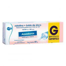 Pomada tratamento assadura nistatina + óxido de zinco pomada 60g genérico ems