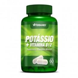 Potássio + Vitamina B12 - c/ 60 caps - Herbamed