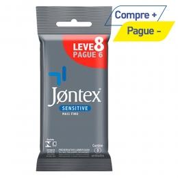 Preservativo Jontex Sensitive - Leve 8 Pague 6