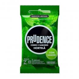 Preservativo Prudence Lubrificado Sabor Hortelã com 3 Unidades