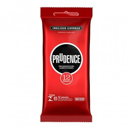 Preservativo Prudence Tradicional Lubrificado com 12 Unidades