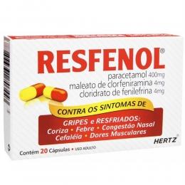 Resfenol - Gripes e Resfriados - com 20 Cápsulas