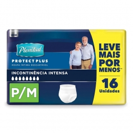 Roupa Íntima Unissex Plenitud Protect Plus P/M - com 16 Unidades