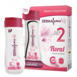 Sabonete Íntimo com 2 unidades de 200ml cada - Floral - Dermafeme