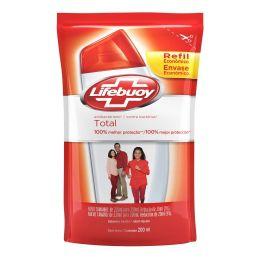 Sabonete Liquido Lifebuoy Total Antibacteriano Refil 200ml