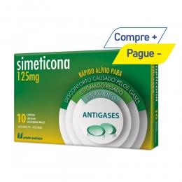 Simeticona 125mg - Alívio dos Gases Estomacais - com 10 Comprimidos - União Química