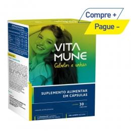 Vita Mune Cabelo e Unhas - Suplemento Vitamínico-Mineral com 30 Comprimidos - Cimed