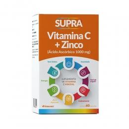 Supra Vitamina C 1000mg + zinco 14mg - com 60 Cápsulas - Herbamed