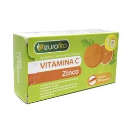 Vitamina C 1g + Zinco - c/ 30 caps - Eurofito