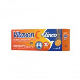 Vitamina c + zinco - vitaxon c 1g + zinco 10mg zero açúcar 10 comprimidos efervescentes