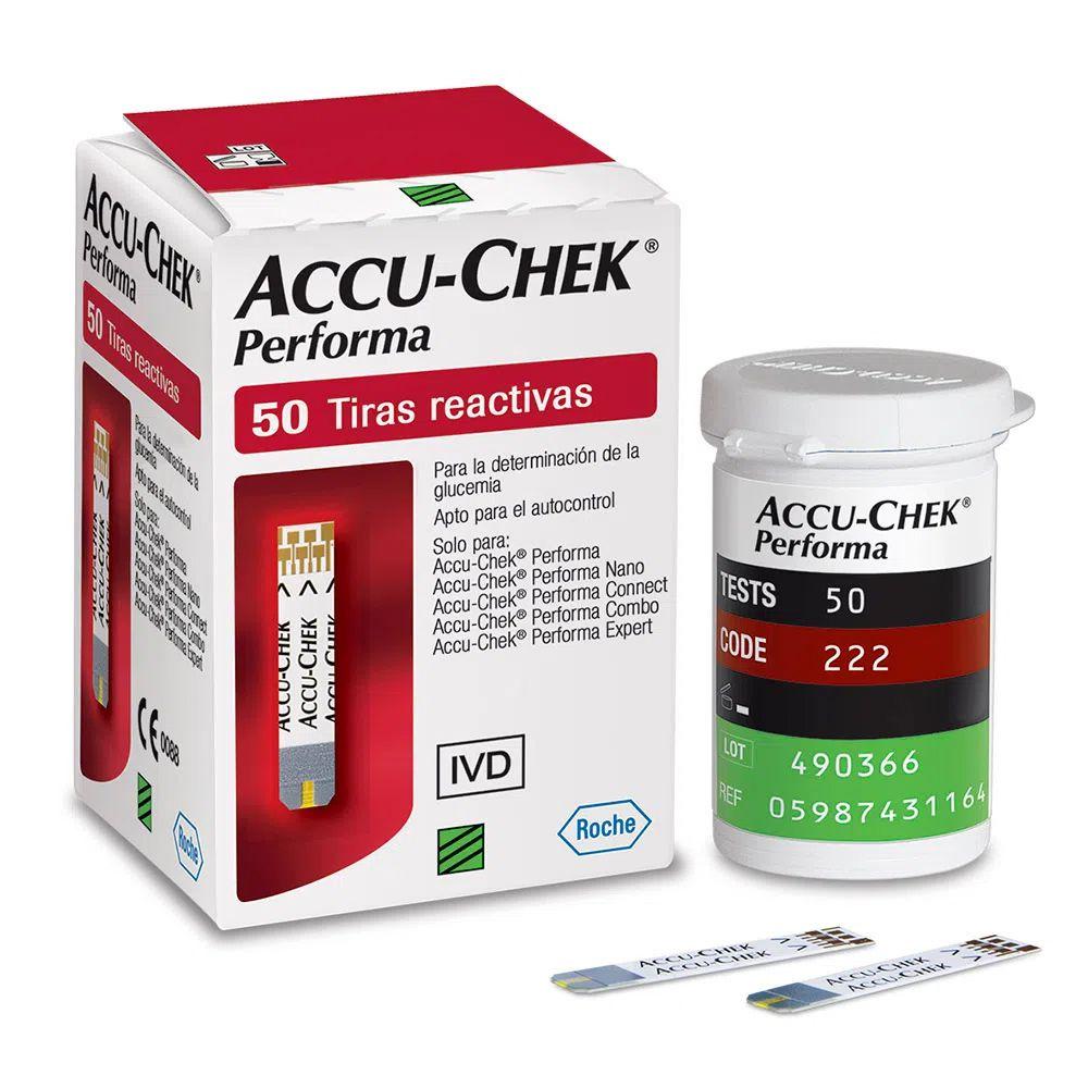 Accu-chek perfoma 50 tiras reagentes