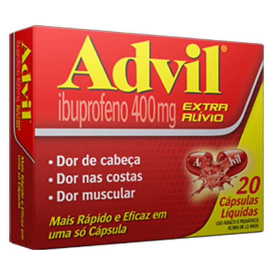 ADVIL 400MG 20 CÁPSULAS