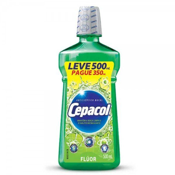 Antisseptico bucal cepacol fluor leve 500ml pague 350ml