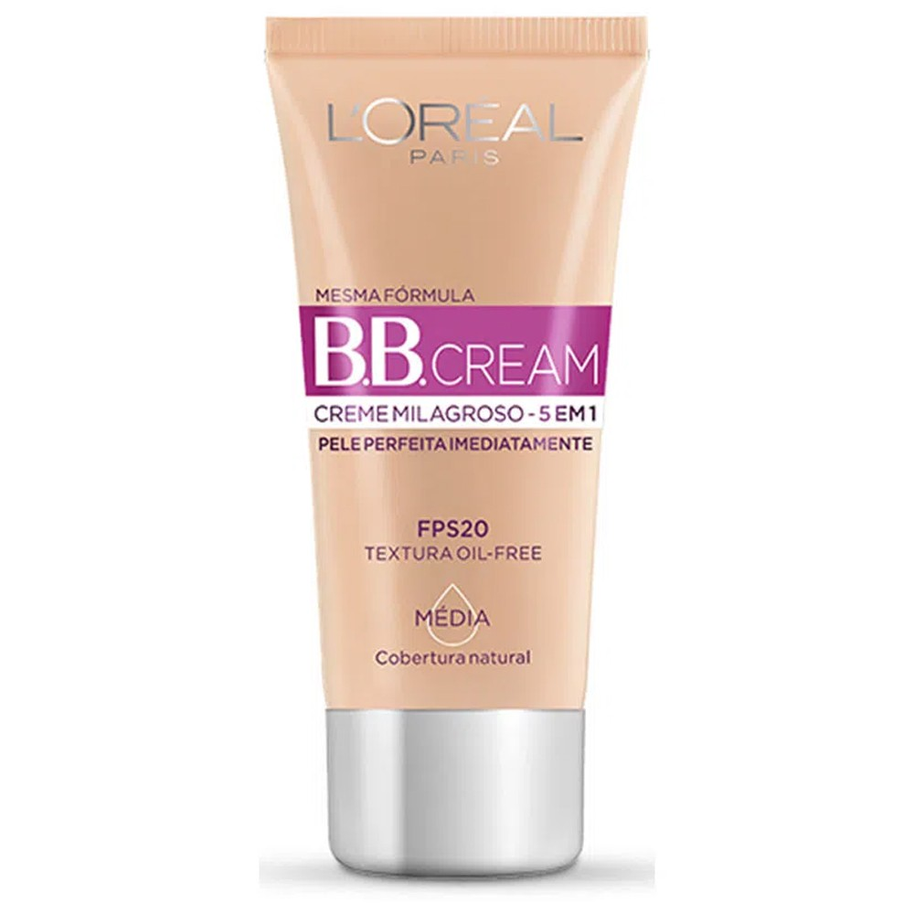 BB CREAM L'ORÉAL PARIS CREME MILAGROSO 5 EM 1 FPS 20 MÉDIA 30ML