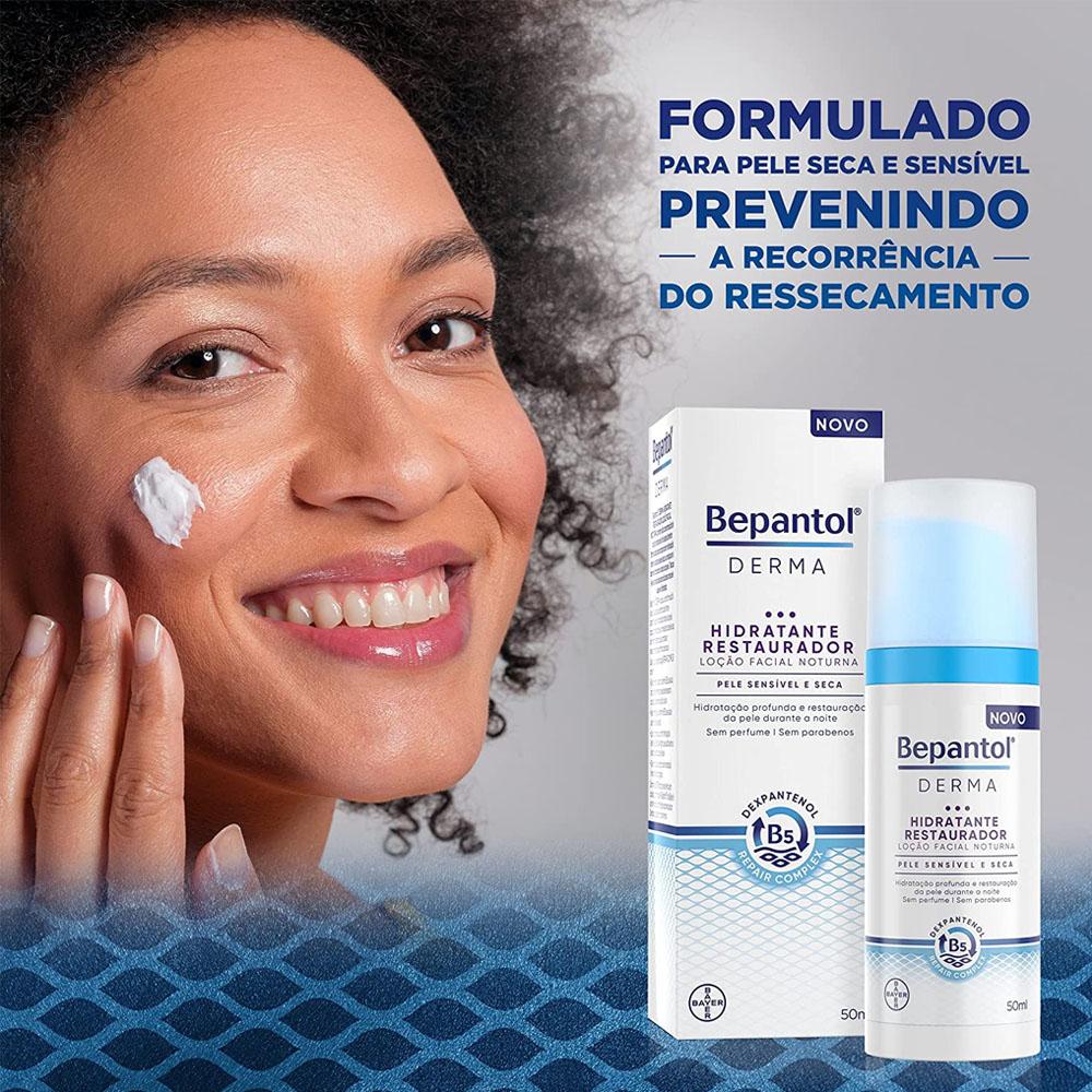 Bepantol Derma Hidratante Restaurador Loção Facial Noturna 50ml - Bayer