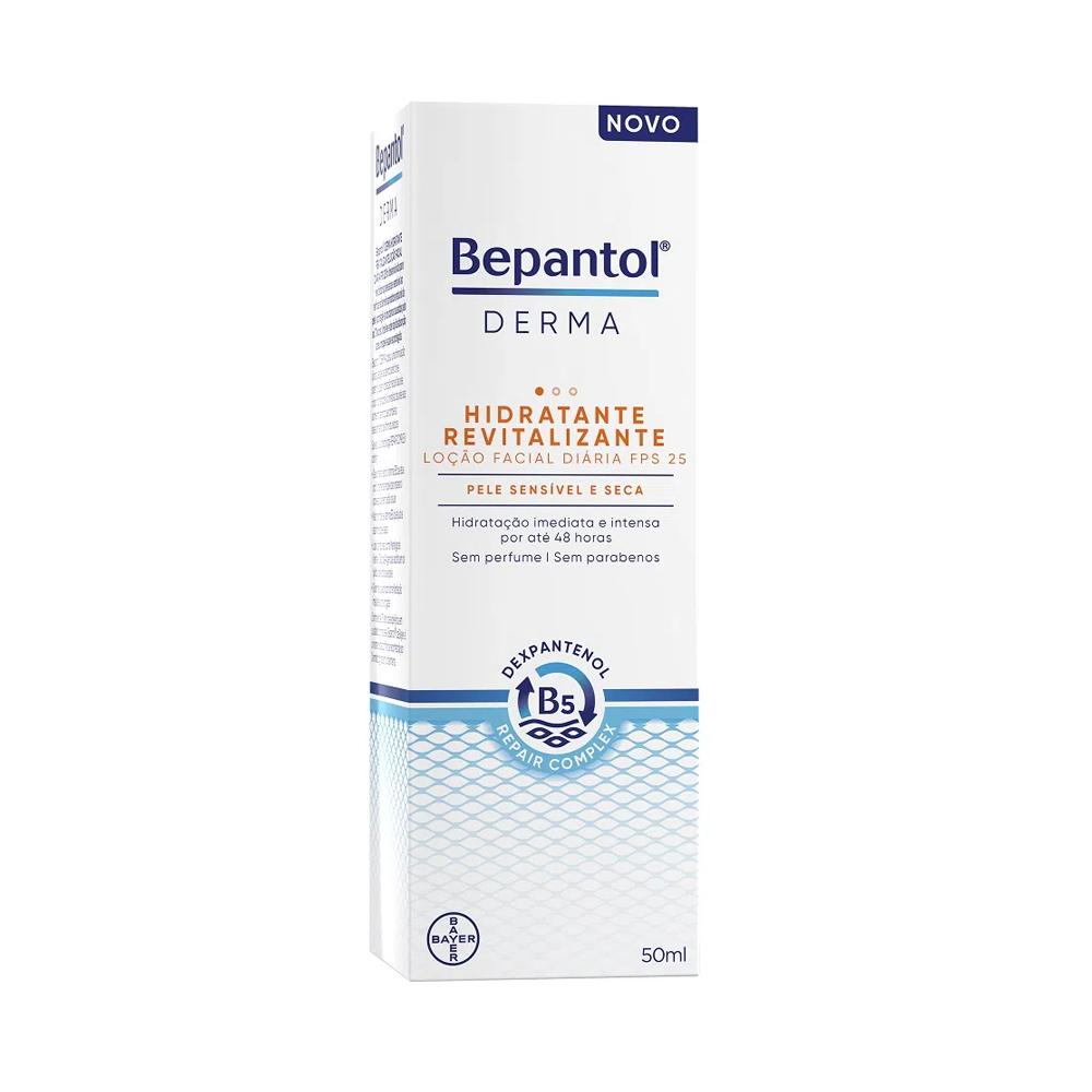 Bepantol Derma Hidratante Revitalizante FPS 25 Loção Facial Pele Sensível E Seca 50ml - Bayer