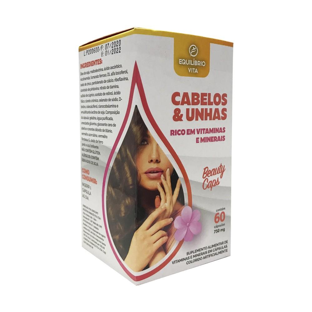Cabelos e Unhas c/ 60 cápsulas - Equilíbrio Vita