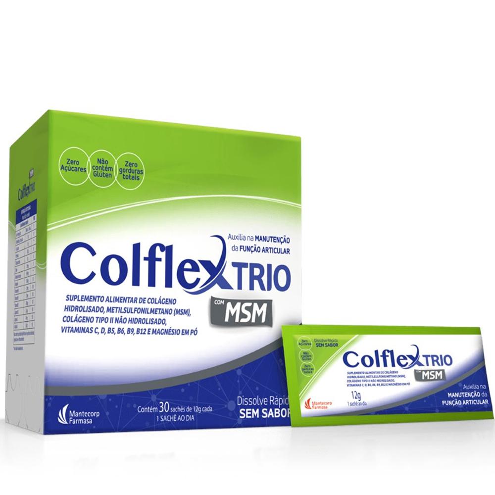 Colflex - Colágeno Tipo II Não Hidrolisado  + Vitaminas -c/  30 Sachês de 12g cada