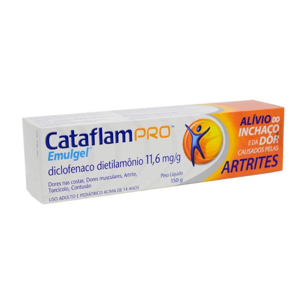 CATAFLAM PRO EMULGEL GEL ANTI-INFLAMATÓRIO 150G - DICLOFENACO - ALÍVIO PARA ARTRITE