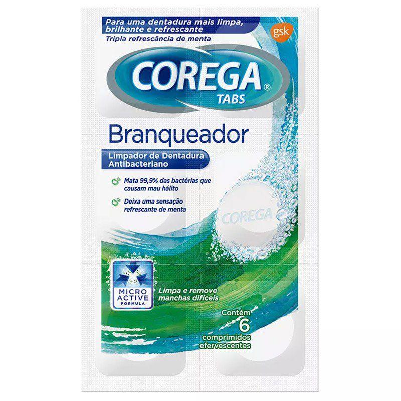 COREGA TABS BRANQUEADOR 6 COMPRIMIDOS EFERVESCENTES