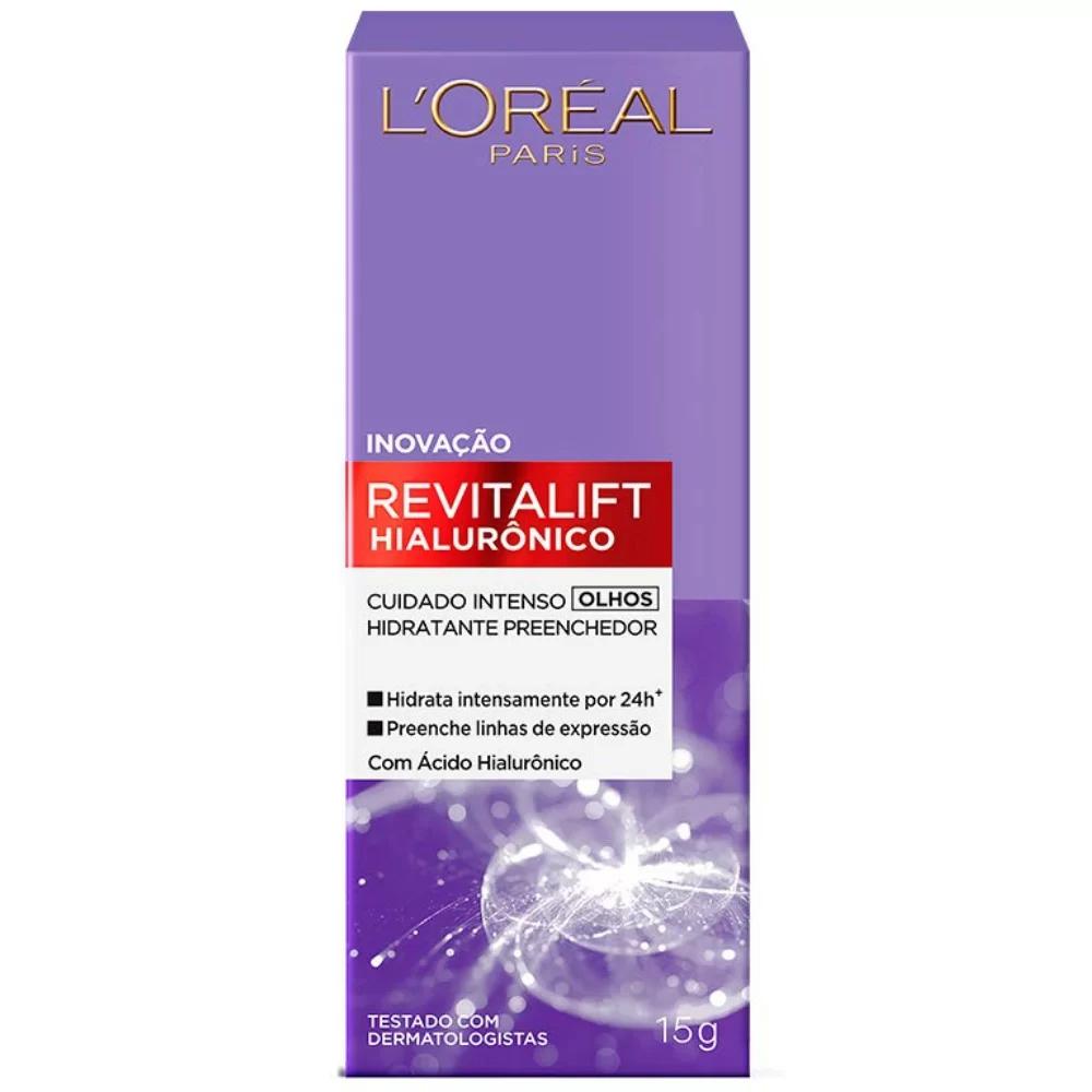 Creme Hidratante para os Olhos Revitalift com Ácido Hialurônico 15g - L`oréal Paris