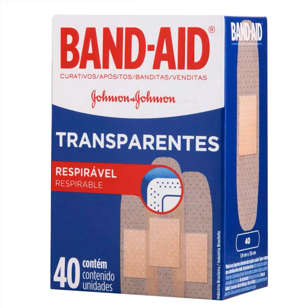 Curativo Band-Aid Transparente 40 unidades