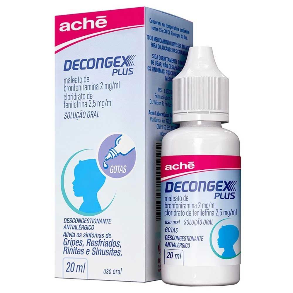 Decongex Plus 2mg/ml + 2,5mg/ml Solução Oral Uso Pediátrico gotas com 20ml