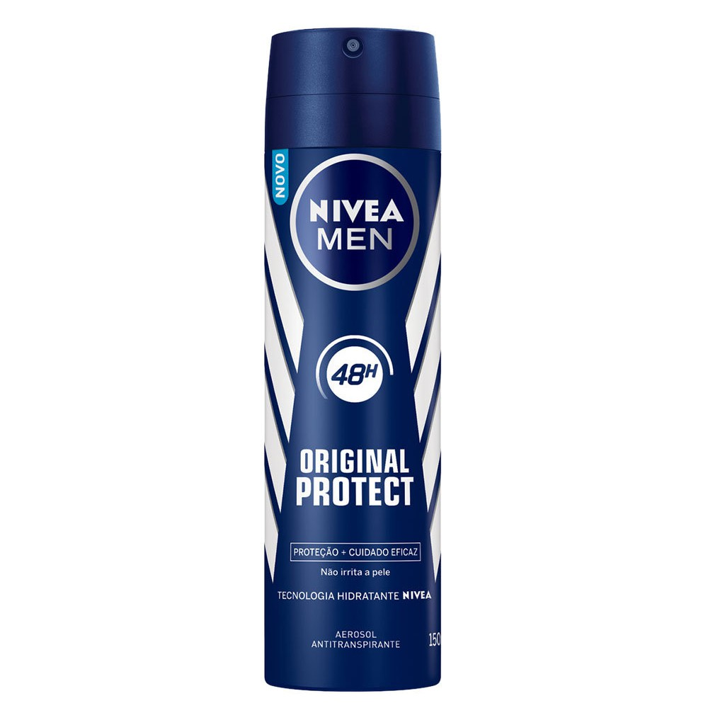 DESODORANTE AEROSOL ANTITRANSPIRANTE NIVEA MEN ORIGINAL PROTECT - 115G/150ML