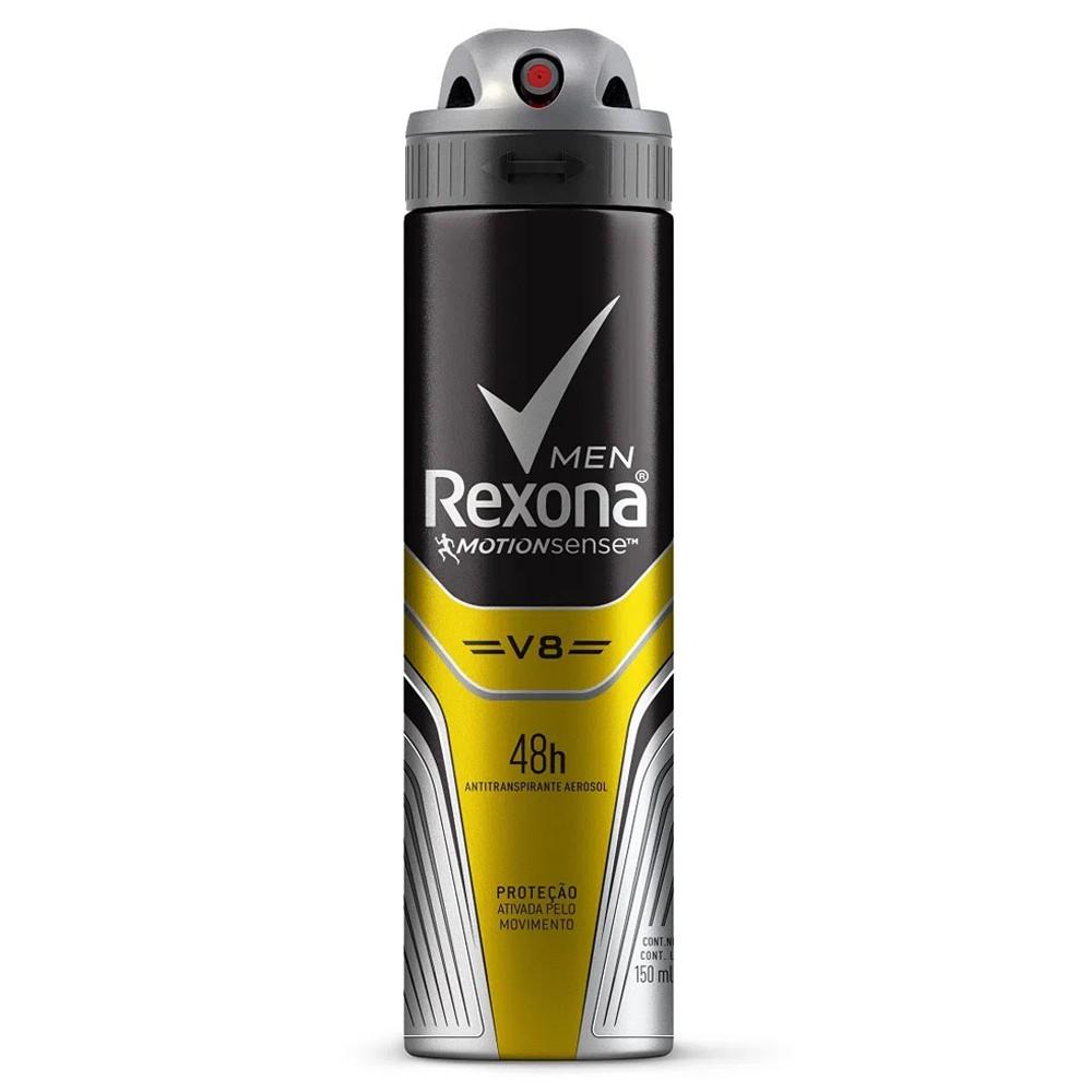 Desodorante aerosol rexona v8 masculino 150ml
