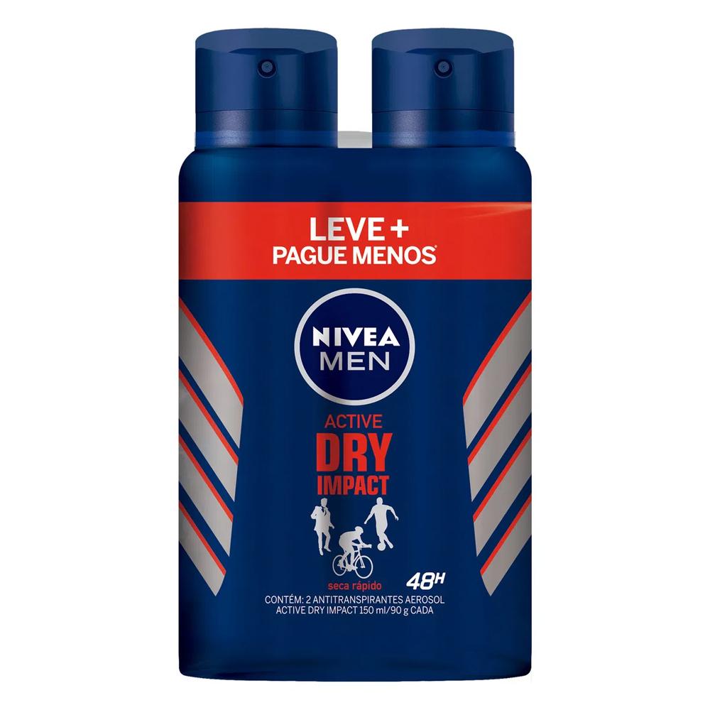 Desodorante Nivea Dry Impact - Leve mais por Menos - Kit com 02 unidades