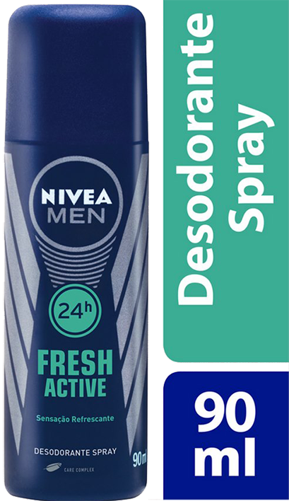 DESODORANTE SPRAY NIVEA MASCULINO FRESH ACTIVE 90ML